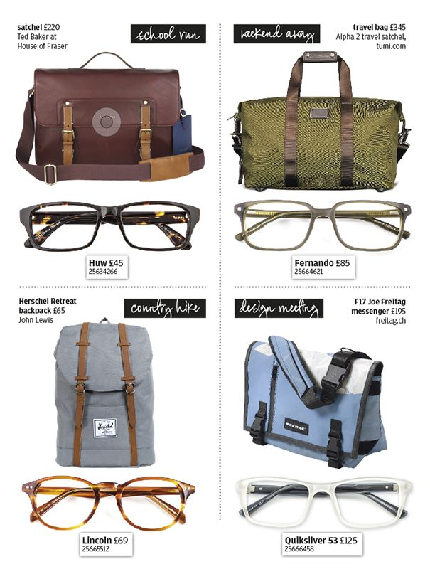 Matching specs and bag make a perfect look for your lifestyle.