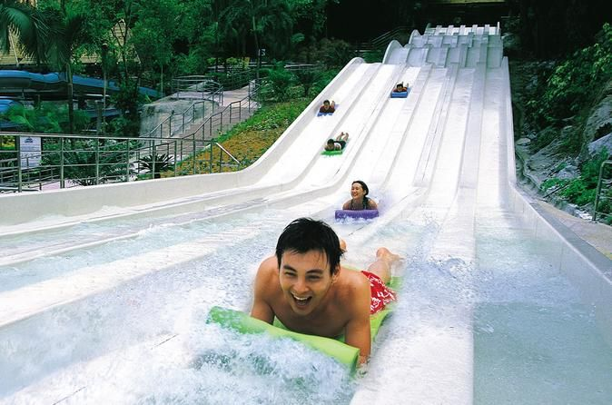Sunway Lagoon Theme Park Day Trip from Kuala Lumpur Cool off at the popular Sunway Lagoon Theme Park on a day trip from Kuala Lumpur that promises fun for all the family. You'll discover why Sunway Lagoon is one of Malaysia's favorite amusement and water parks, with more than 80 attractions and three themed lands: the World of Adventure, Wild Wild West and Waters of Africa. You'll also visit a leather and batik showroom, and stop for a photo opportunity at KL's signature Pe...