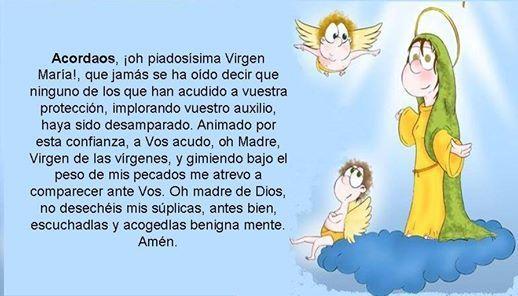 Acordaos oh piadosísima Virgen María