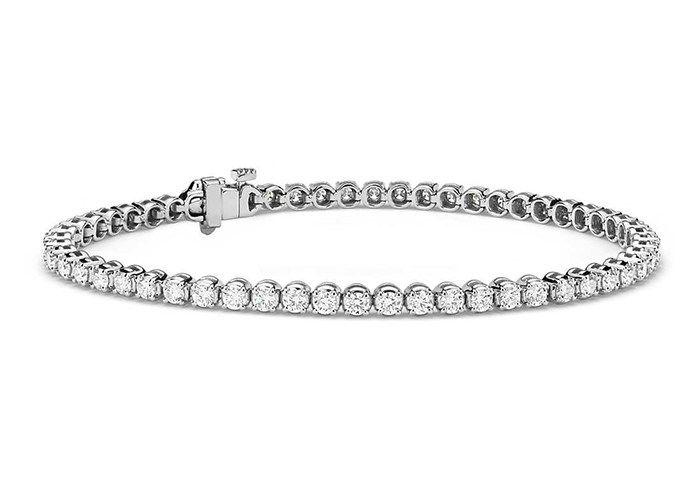 Popular Platinum Wedding Jewelry Trends: #8. Platinum Tennis Bracelet; #bracelet; #tennisbracelet