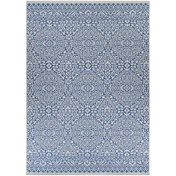 Charis Power Loom Polypropylene Blue Brown Area Rug