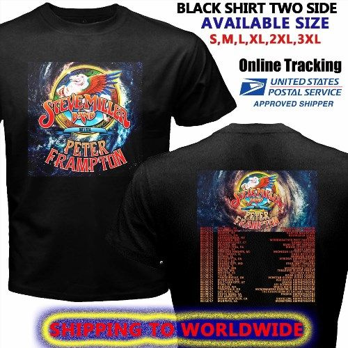 16.48$  Watch now - http://vivke.justgood.pw/vig/item.php?t=ngr5ze28134 - STEVE MILLER BAND PETER FRAMPTON TOUR DATES 2017 BLACK SHIRT S-3XL SIZE GENDING 16.48$