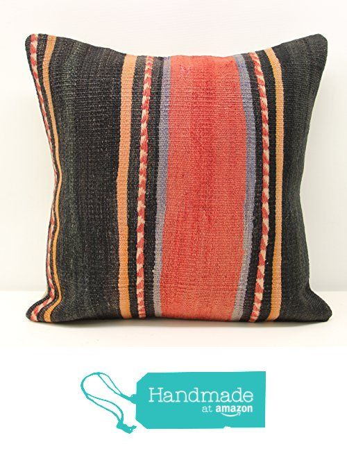 Hand woven kilim pillow cover 18x18 inch (45x45 cm) Oriental Kilim pillow cover Home Decor Natural Pillow cover Accent Kilim Cushion Cover from Kilimwarehouse https://www.amazon.com/dp/B01N9LR1A4/ref=hnd_sw_r_pi_dp_AC7yybC6FKX6H #handmadeatamazon