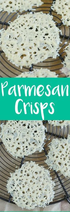 Parmesan crisps are the easiest and best salad or soup toppers ever! It gives your dish that extra cheesy crunch! You'll find any excuse to make and use these guys!