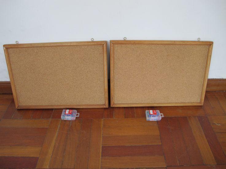 10,000 peso sale /  ventas de 10 mil Cork pinboards and pins / tablones de anuncios de corcho y pinchos