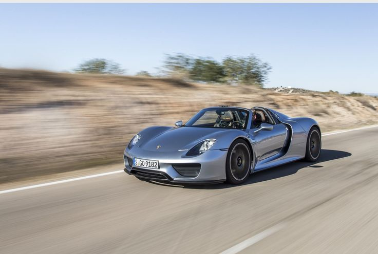 Porsche 918 Spyder The plug-in hybrid Porsche hypercar features a 4.6 liter V-8 engine and two electric motors delivering a combined force of 887 horsepower. The speed peaks at 210 mph while clocking zero to 60 in 2.8 seconds.  Estimated Price: US $850,000- $930,000