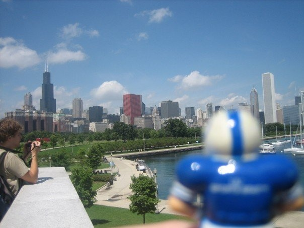Looking out over Chicago in 2008.