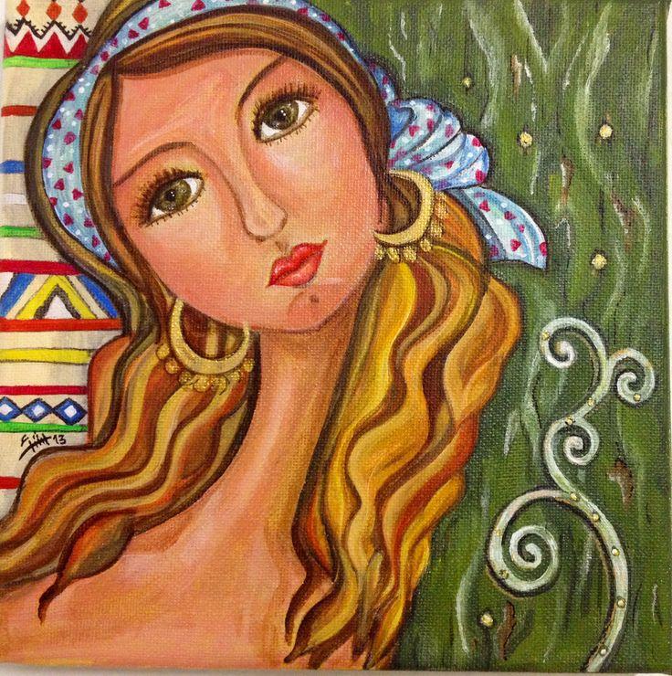 Iraqi artist Rasha Okab - without title  ليس لها عنوان