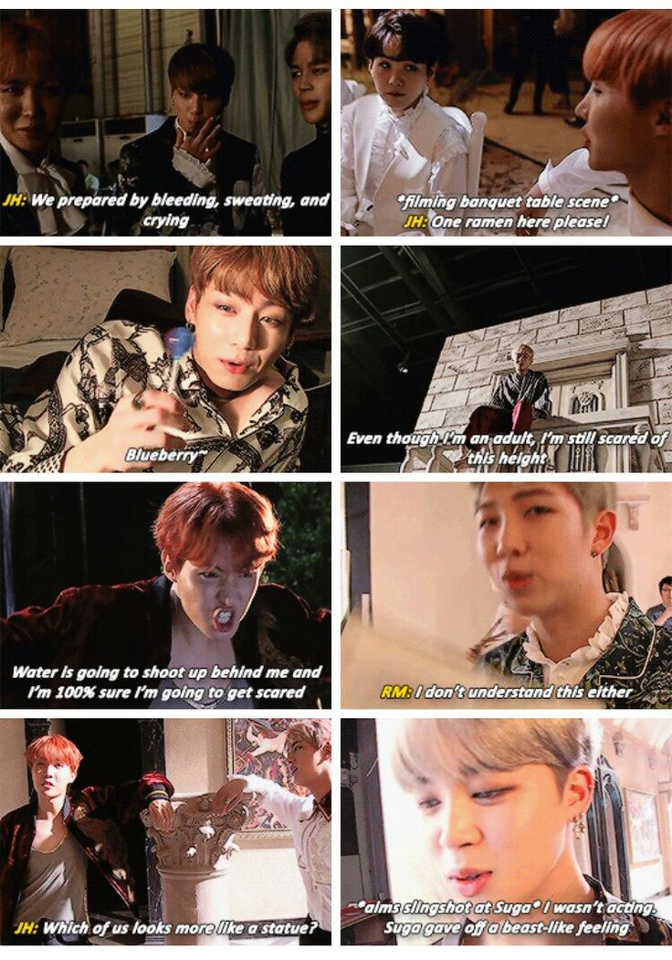 Shit Bangtan says: Blood Sweat & Tears version