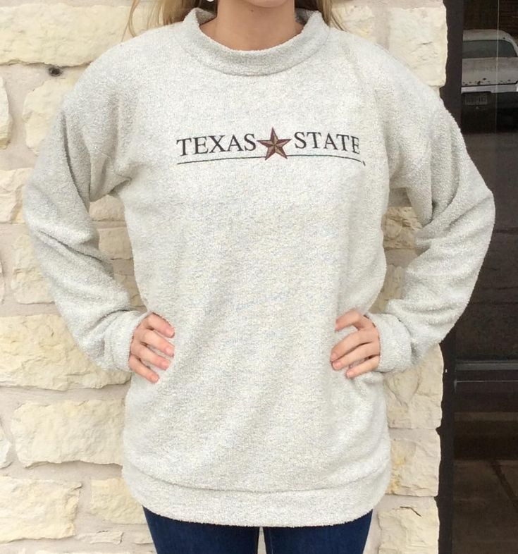 Keep warm and stay cozy with this Texas State University Woolly Thread Pullover!