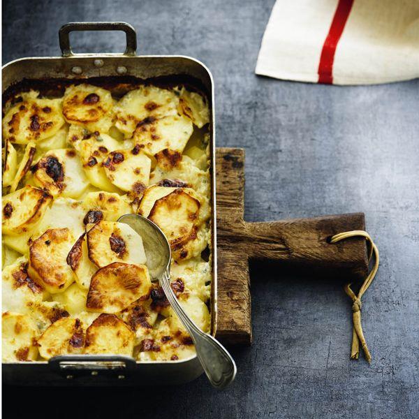 Bagte kartofler med gorgonzola � la tante Gloriana