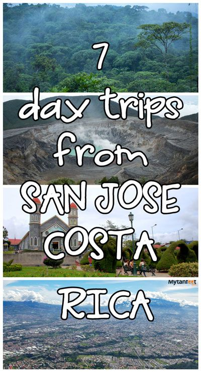 Visiting San Jose? Here are 7 great day trips from the capital city of Costa Rica via @mytanfeet