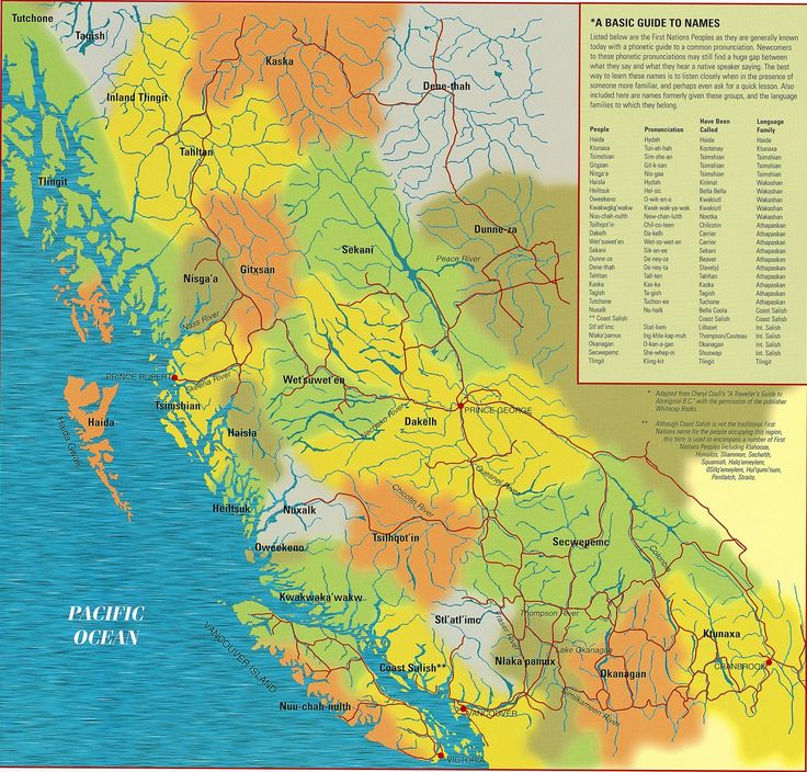 large image of BC First Nations map