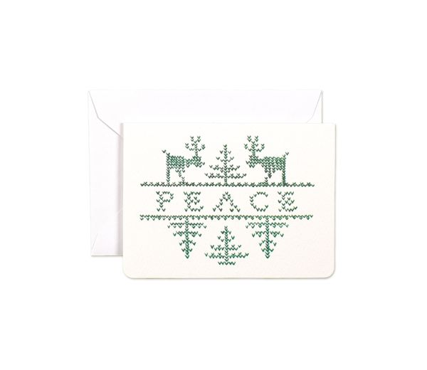 Stitched Peace Mini Card by Gotamago