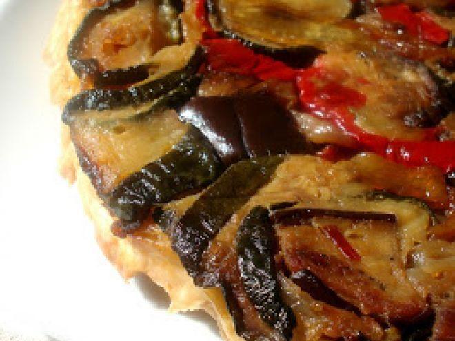 Receta Aperitivo : Tarta tatin de verduras asadas por Cocinandotelo
