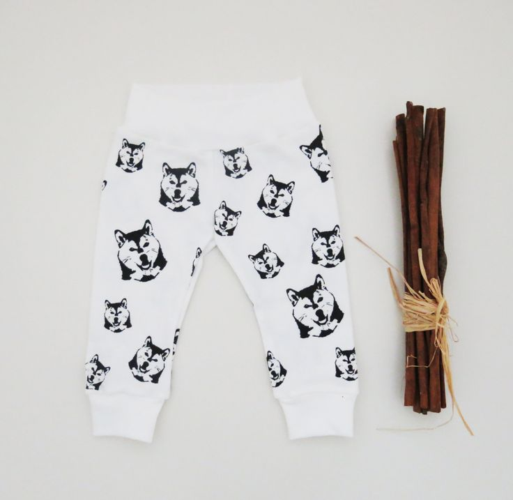 Shiba Inu Organic Cotton Baby Leggings, Organic Newborn Pants, Shiba Inu Infant Clothes, Dog Owner New Parent Gift, Organic Baby Shower Gift by MONOFACESoCHILDREN on Etsy