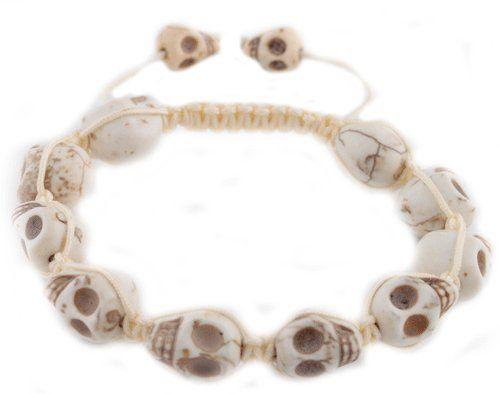 White Skull Head Style Shamballah Beaded Macrame Adjustable Bracelet JOTW. $0.01. 100% Satisfaction Guaranteed!. Great Quality Jewelry!