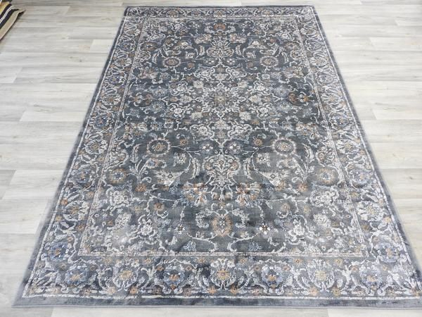 Viscose Silk Antique Faded Look Traditional Oriental Rug Size: 230 x 160cm