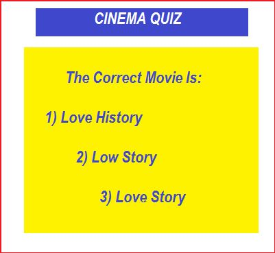 CINEMA QUIZ - giochi humor estate con Prosdocimi    QUI>http://tormenti.altervista.org/estate-con-prosdocimi/