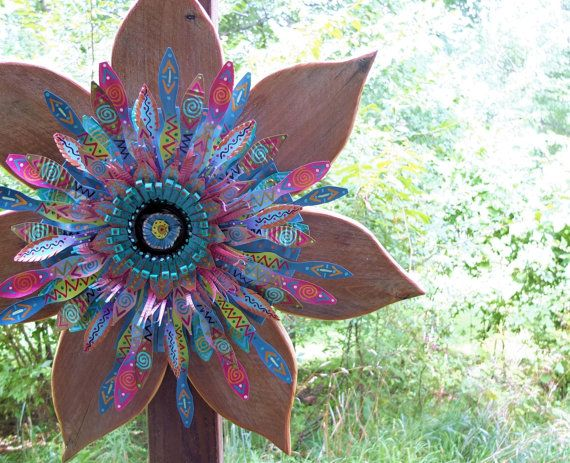 Bohemian Decor Flower Decor Junk Gypsy Decor by SalvageandBloom