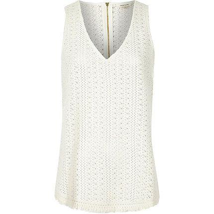 White crochet tank top £26.00