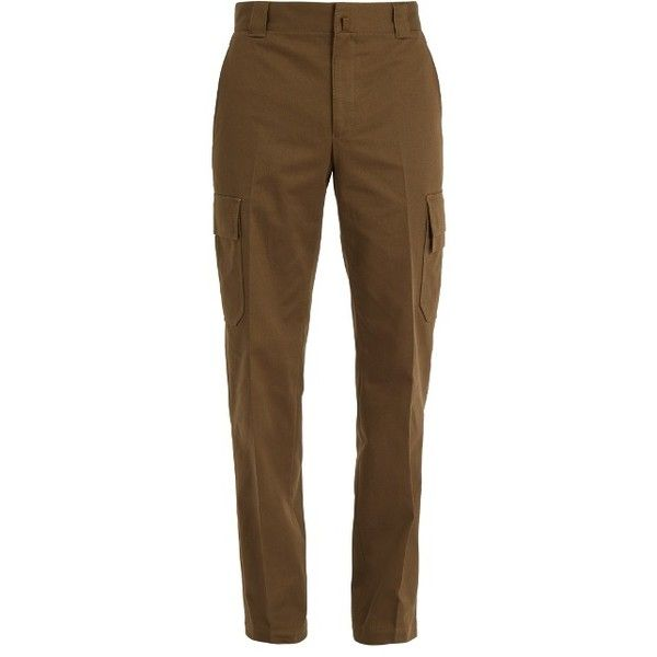 Lanvin Straight-leg cotton-drill cargo trousers (29,980 PHP) ❤ liked on Polyvore featuring men's fashion, men's clothing, men's pants, men's casual pants, khaki, men's high rise pants, mens utility pants, mens cargo pants, mens khaki pants and mens high waisted pants