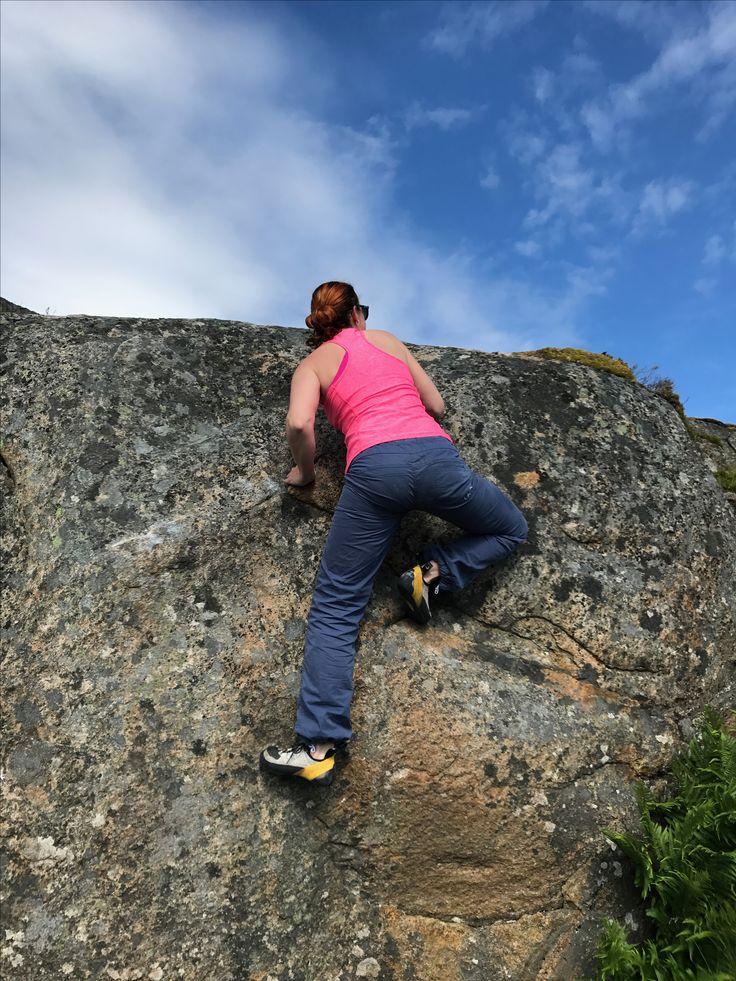Bouldering. Lofoten. Norway