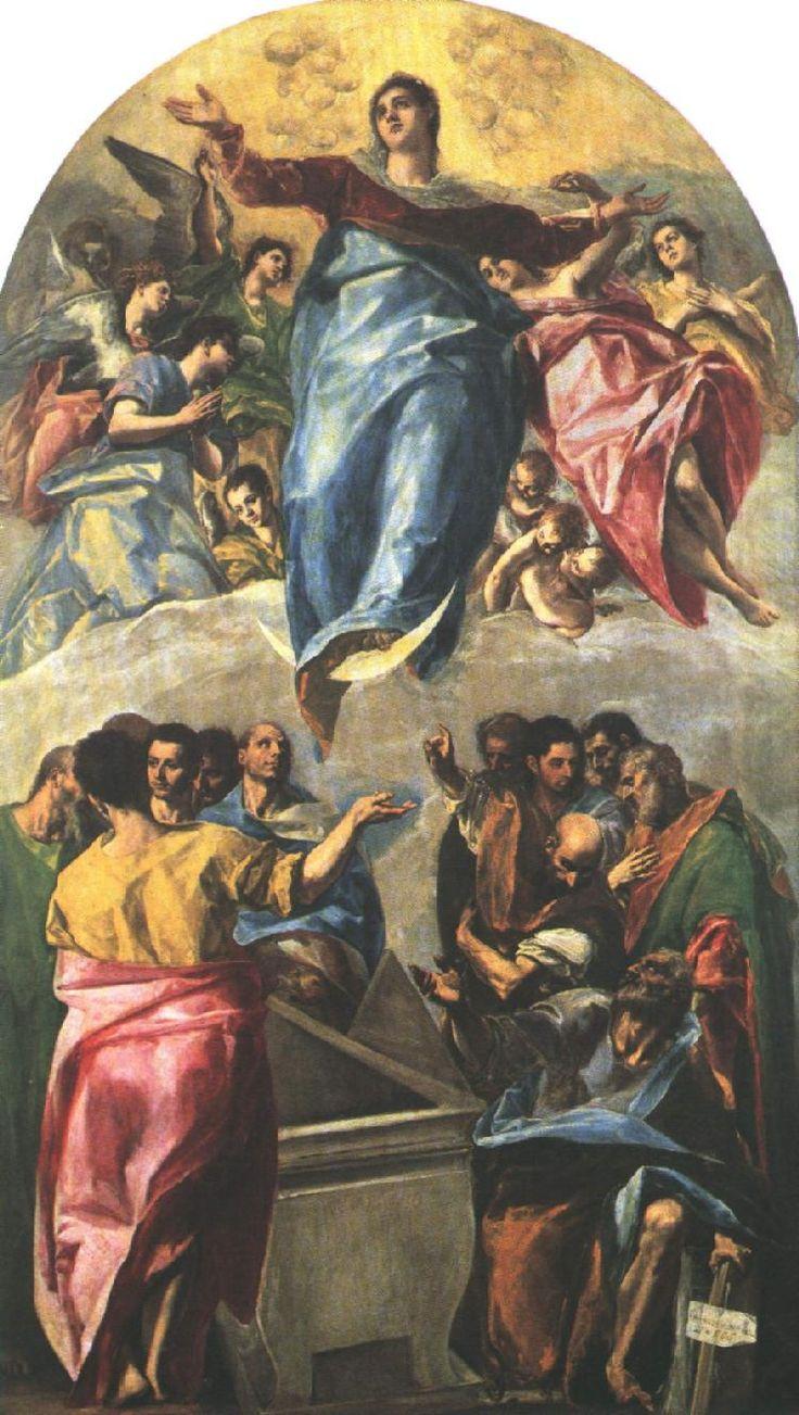 El Greco Domenikos Theotokopoulos . Δομήνικος Θεοτοκόπουλος.Asuncion de la Virgen