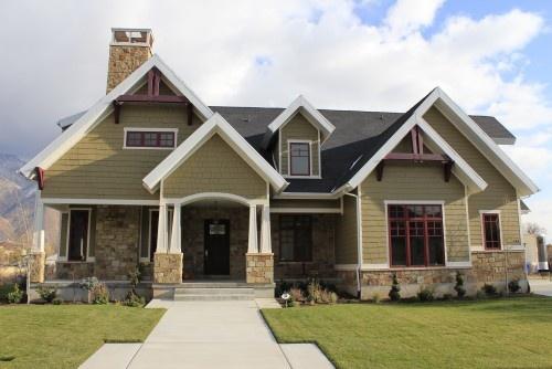 love the color scheme : Houses Colors, Dreams Houses, Craftsman Style Home, Craftsman Exterior, Exterior Houses, Houses Ideas, Custom Home, Exterior Colors, Colors Schemes