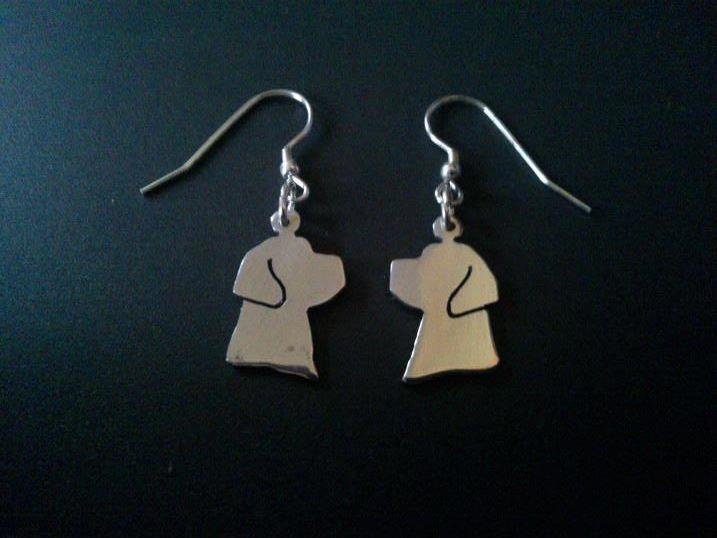 sterling silver labrador dog head drop earrings 18mm x 14mm, £17.99