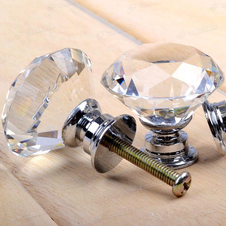 8x Klar Glas Knopf Kommode Schublade Schrank Tür Griff Möbelknopf Möbelknäufe in Möbel & Wohnen, Möbel, Zubehör | eBay