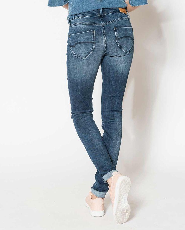 jean clara flexy indigo, femme, slim - jean - freeman t.