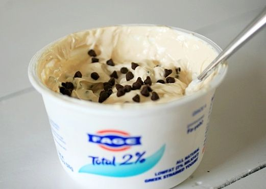 cookie dough greek yogurt, my new go-to when i'm in the throes of a rogue cheesecake craving
