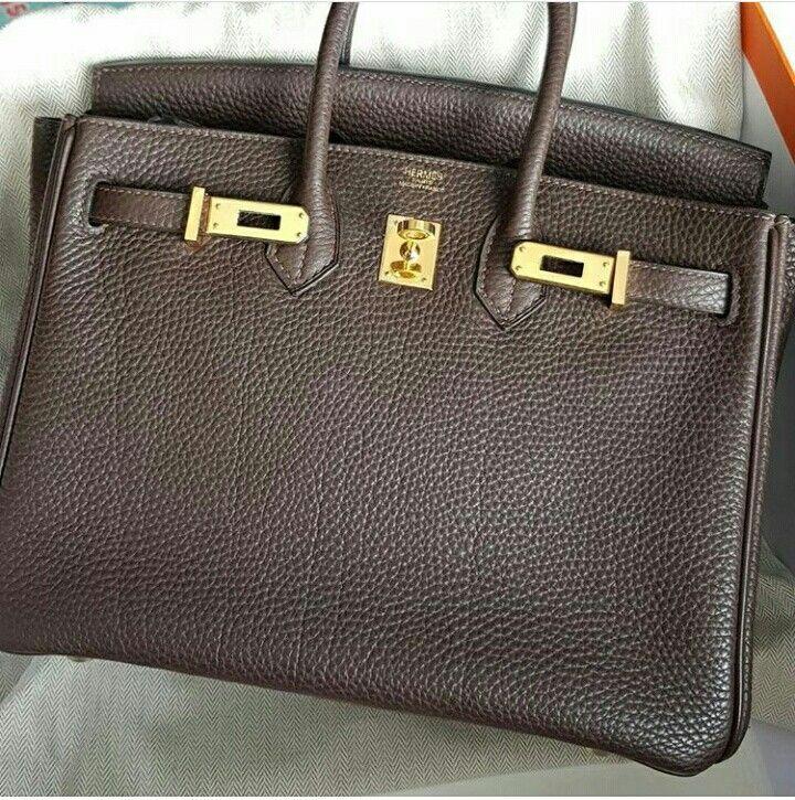 413e1ca3d0 Model  Hermes Birkin 25 Condition  Preowned Stamp  K Color  Ebene Leather