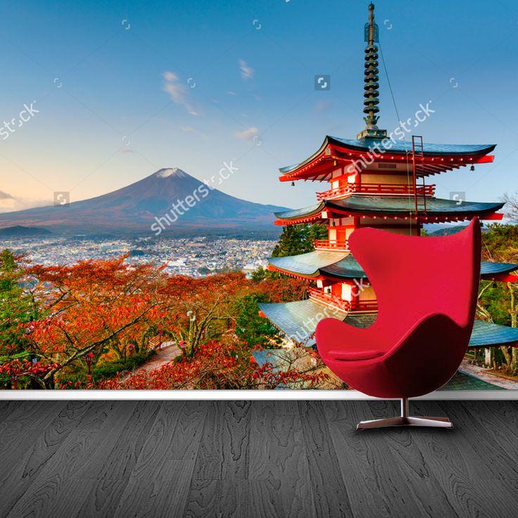 Fotobehang Uitzicht op Fuji | Maak het jezelf eenvoudig en bestel fotobehang voorzien van een lijmlaag bij YouPri om zo gemakkelijk jouw woonruimte een nieuwe stijl te geven. Voor het behangen heb je alleen water nodig!   #behang #fotobehang #print #opdruk #afbeelding #diy #behangen #japan #kioto #kyoto #herfst #oosters #azie #japans #fuji #mtfuji