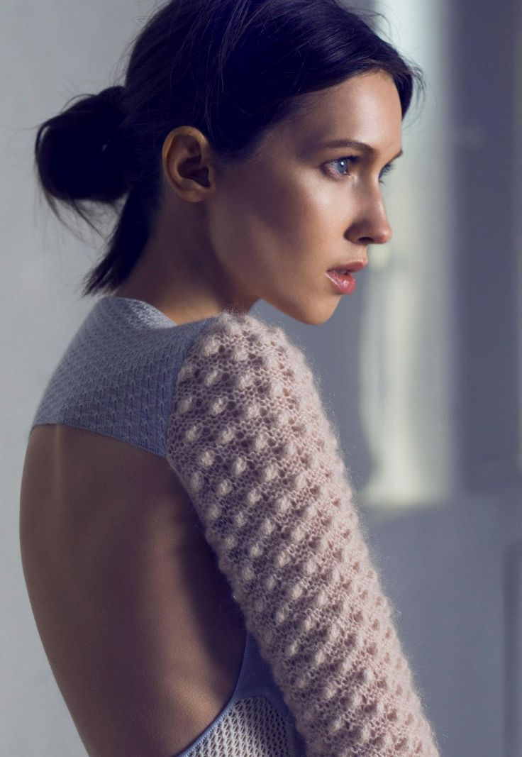 This seems to be a test shot for model Alena Dedova and I can't find who to credit for the gorgeous jumper and photograph