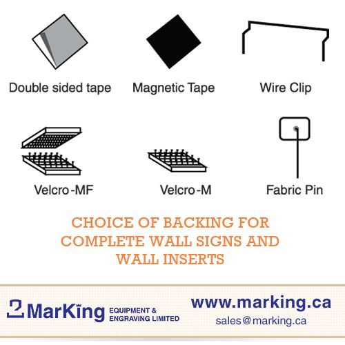 Backing choices for complete wall signs and wall inserts