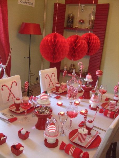 105 best d co de table rouge et blanc images on pinterest for Deco table de noel rouge et blanc