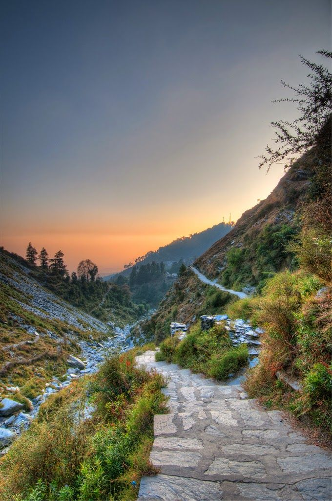 Dusk from Bhagsu Naag Pathway, Dharamsala... The 10 Best Backpacking Destinations in India