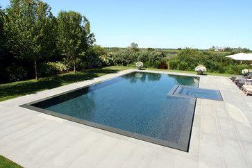 Infinity Edge Negative Edge Rimless Pools - contemporary - Pool - New York - J. Tortorella Swimming Pools Más