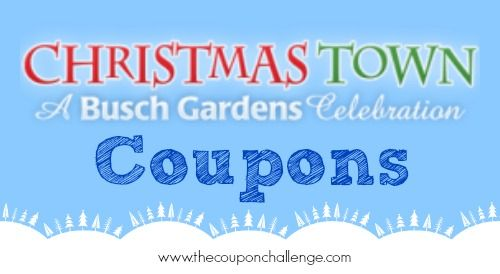Find ALL the Busch Gardens Christmas Town Coupons for 2014!  Save money visiting Busch Gardens Williamsburg this winter.  The lights are gorgeous but no one likes to pay full price!  Buy your tickets online and save!
