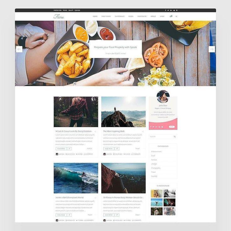 "#Repost @jomin_mu  Download ""Fiore"" from Themeforest.net and build your #blog website today! Link in Bio!  #fiore #blog #webdesign #web #ui #ux #envato #themeforest #portfolio  #design #html #css  #pixel #creative #minimal #shop #woman #blogger"