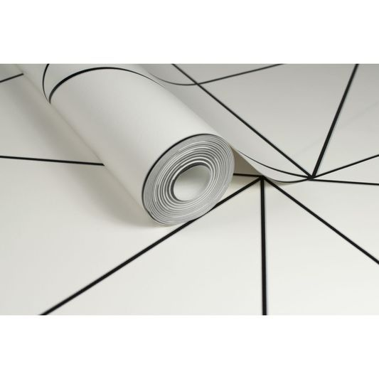Geo Black & White Wallpaper by Kelly Hoppen for Graham & Brown