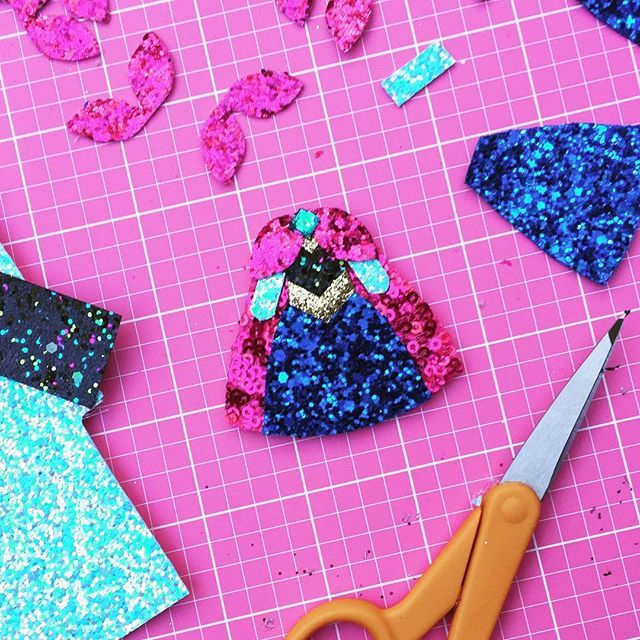 Working on the ANNA Dress this morning! Can't wait to wear these on my next Disney trip! Available in hair clip or brooches/pin! The Princess Dress Collection will be launching this weekend! Limited quantities will be ready to ship! Follow for details!