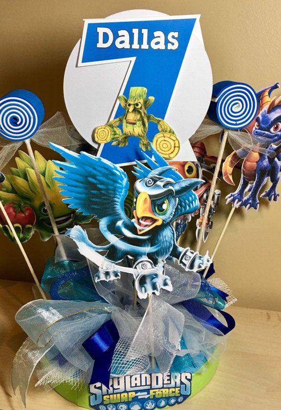 Skylanders Personalized Banner/ cake topper/ paper por YulisCraft