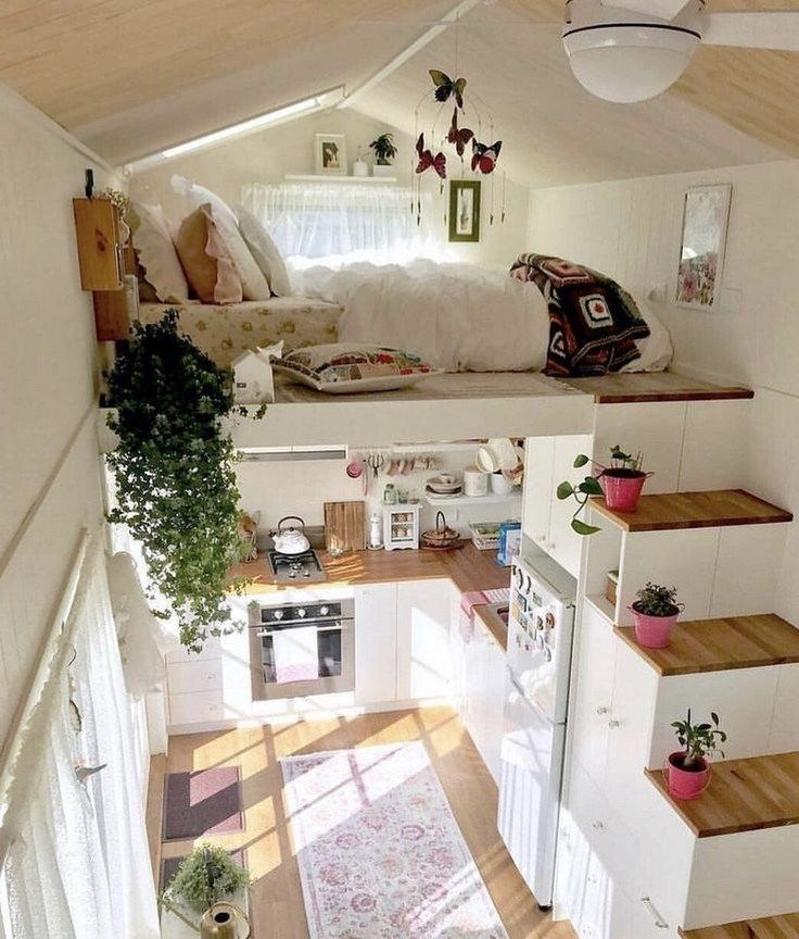 40 Very Recommended Bedroom Design Ideas For Small Rooms Bedroomdesign Bedroomideas Bedroom Tiny House Interior Design Tiny House Decor Tiny House Interior