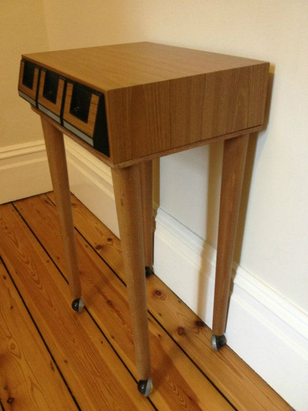 Retro Style Container Bedside Table: Upcycled Retro Cassette Bedside Table
