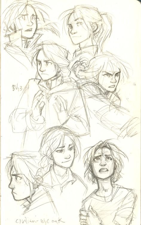 cool sketches of faces & expressions