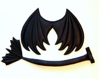 Black Dragon Wings Kostüm Flügel Dämon Wings Kinder von MightyBunny