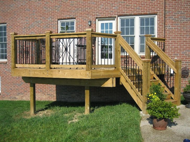 Best Image Result For 6X6 Stairs Post Deck Decks Backyard 640 x 480